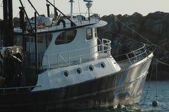 Barco en el ancla imagen de archivo libre de regalías