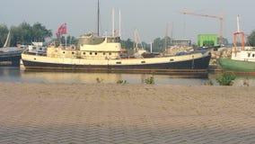 Barco en el boatgraveyard Fotos de archivo