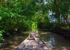 Barco en el delta del Mekong Fotografía de archivo