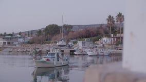 Barco en el embarcadero almacen de video