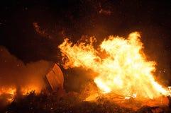 Barco en el fuego Fotografía de archivo libre de regalías