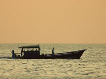 Barco en el horizonte Foto de archivo
