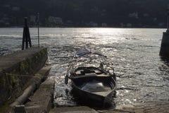Barco en el lago Maggiore Foto de archivo libre de regalías