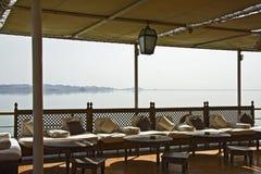 Barco en el lago Nasser Fotos de archivo libres de regalías