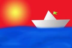 Barco en el mar Imagen de archivo