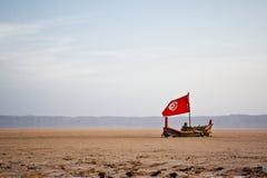Barco en el mar arenoso Foto de archivo libre de regalías