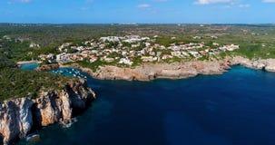 Barco en el mar en la visión aérea Fotos de archivo libres de regalías