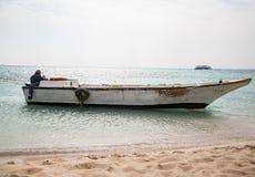 Barco en el Mar Rojo imágenes de archivo libres de regalías