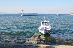 Barco en el puerto Limenas - Thassos Grecia 4 Fotos de archivo libres de regalías