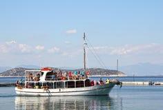 Barco en el puerto Limenas - Thassos Grecia 8 Fotografía de archivo