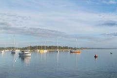 Barco en el puerto Macquarie, NSW, Australia Foto de archivo libre de regalías