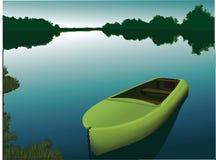 Barco en el río Foto de archivo libre de regalías