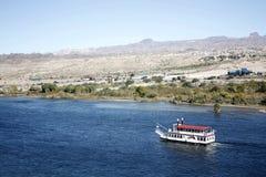 Barco en el río de Colorado Imagen de archivo libre de regalías