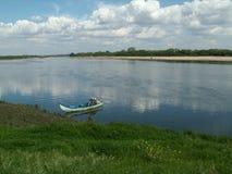 Barco en el río Tejo Fotografía de archivo libre de regalías