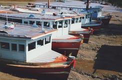 Barco en encallado fotografía de archivo libre de regalías