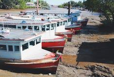 Barco en encallado fotos de archivo libres de regalías