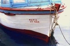 Barco en Grecia Imagenes de archivo
