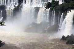 Barco en Iguazu Falls en la Argentina Fotografía de archivo libre de regalías
