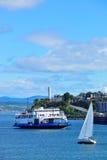 Barco en la ciudad de Quebec Imagenes de archivo