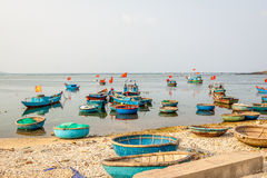 Barco en la isla del hijo de LY Fotos de archivo libres de regalías
