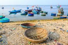Barco en la isla del hijo de LY Imagen de archivo