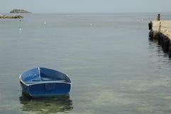 Barco en la isla del ibiza Foto de archivo