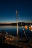 Barco en la noche Foto de archivo libre de regalías