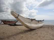02 Barco en la playa imagen de archivo libre de regalías