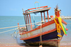 Barco en la playa Tailandia de Pattaya Fotografía de archivo
