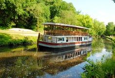Barco en las grandes caídas Maryland Fotografía de archivo