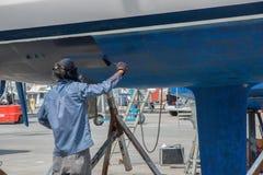 Barco en mantenimiento Fotos de archivo libres de regalías