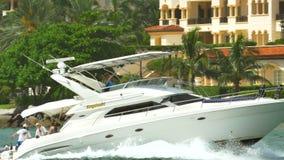Barco en Miami almacen de metraje de vídeo