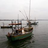 Barco en Mirissa Fotos de archivo libres de regalías