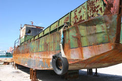 Barco en muelle seco Imagen de archivo