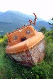 Barco en pista Imagenes de archivo