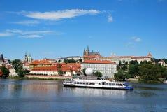 Barco en Praga Foto de archivo libre de regalías