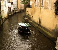 Barco en Praga Fotografía de archivo