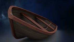 Barco en tormenta del relámpago almacen de metraje de vídeo