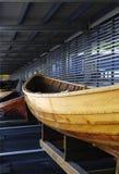 Barco en un boathouse. Imagen de archivo