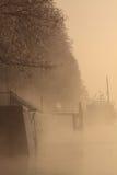 Barco en un río Imagen de archivo