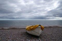Barco en haya Imagen de archivo libre de regalías