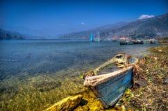 Barco encalhado Imagens de Stock