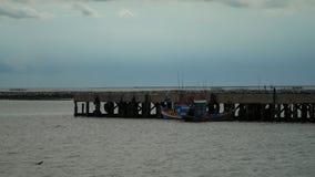 Barco entrado no porto Fotografia de Stock