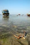 Barco-Escora Foto de Stock