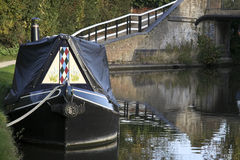 Barco estrecho en el canal magnífico de la unión Fotografía de archivo libre de regalías