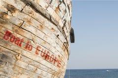 Barco a Europa foto de stock