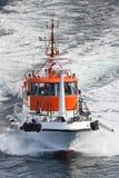 Barco experimental en el mar Imagen de archivo libre de regalías