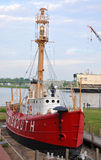 Barco-farol Portsmouth de Estados Unidos (LV-101) Fotografia de Stock