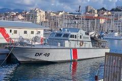 Barco francés de la velocidad de las aduanas imagenes de archivo