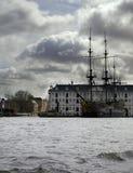 Barco grande em Amsterdão Fotografia de Stock Royalty Free